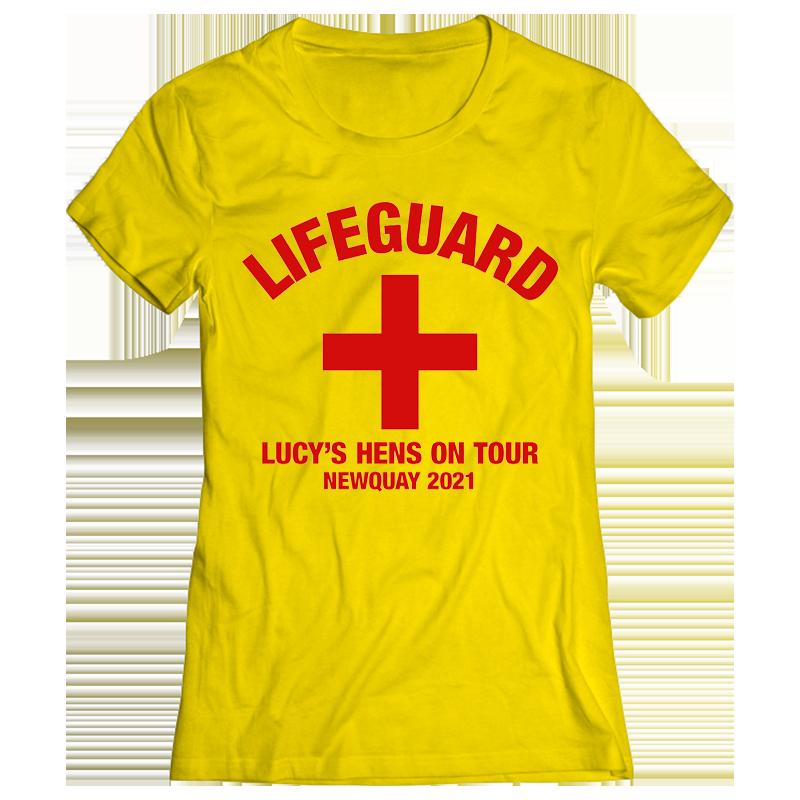 Lifeguard Hen Do T-Shirt - front view