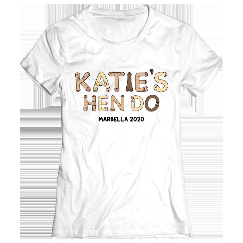 Lil Willies Hen Do T-Shirt - front view