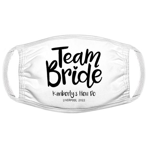 Team Bride Hen Do Facemask