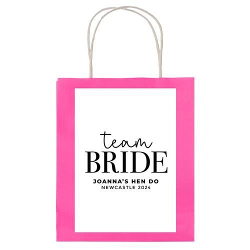 Team Bride Lettering