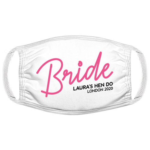 The Bride Hen Do Facemask