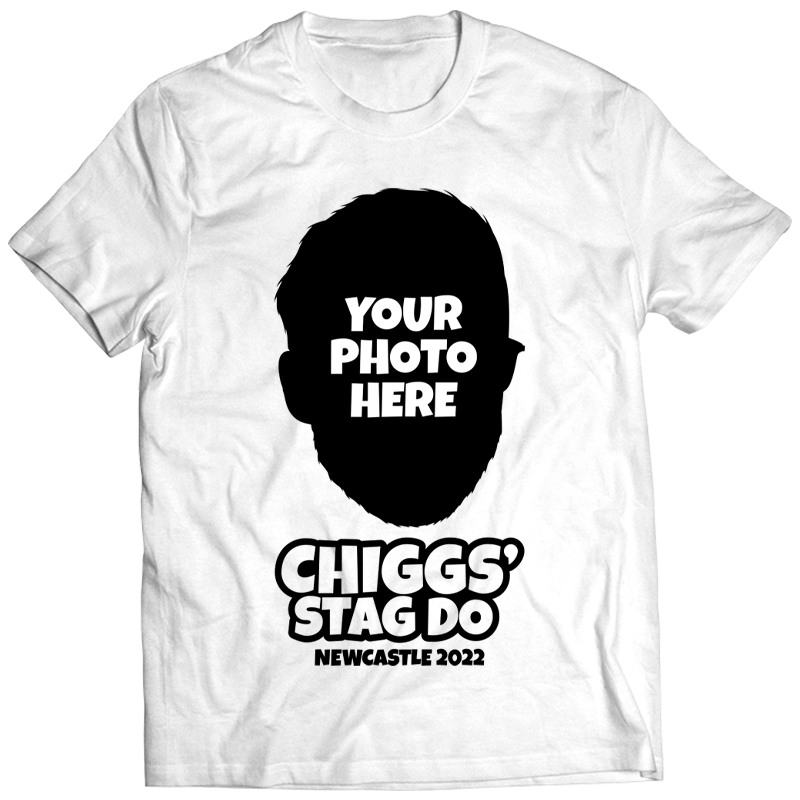 Illustration Print Stag Do T-Shirts - front view