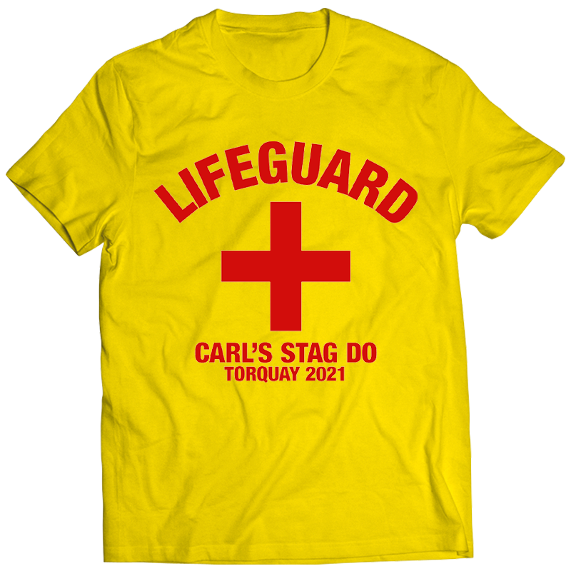 Lifeguard Stag Do T-Shirts - front view