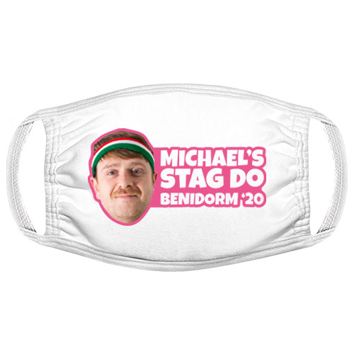 Photo Print Stag Do Facemask