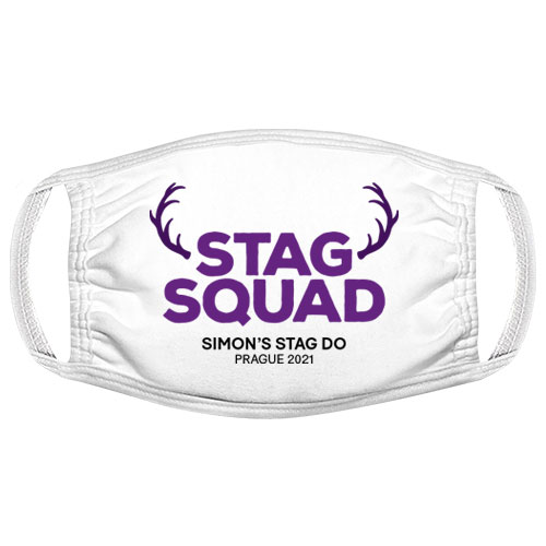 Stag Squad Antlers Stag Do Facemask