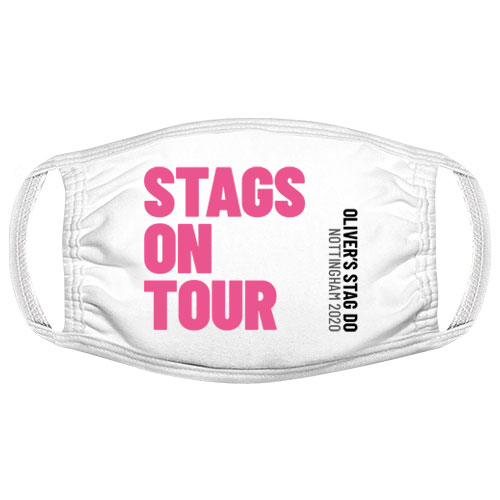 Stags on Tour Stag Do Facemask
