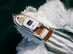 Image of a speed boat in the water