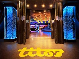 The interior of Titos nightclub