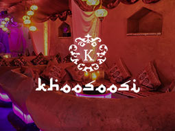 Khoosoosi logo over an image of some Indian style sofas