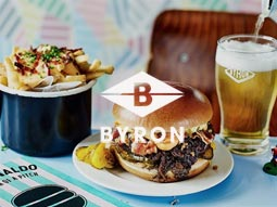 Gears & War - Byron Burger - 2 Course Meal & Drink