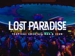 A large crowd in a nightclub