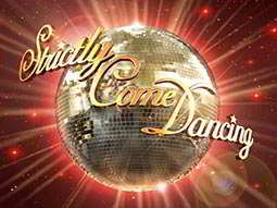 Strictly Come Dancing red and glitter ball logo