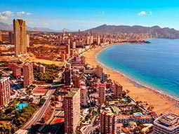 An areal shot of Benidorm
