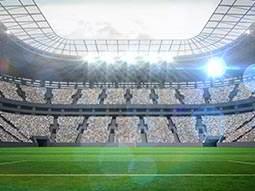 A sports stadium