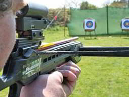 A man aiming with a bow
