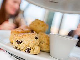 A close up image of scones on a plate