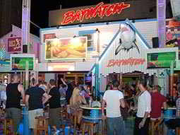The exterior of Baywatch Bar in Magaluf