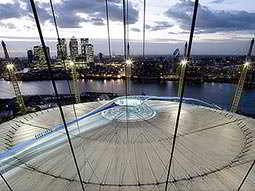 The top of the dome of The O2 Arena