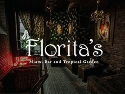 Florita's Bar Interior with images of famous people up on the wall