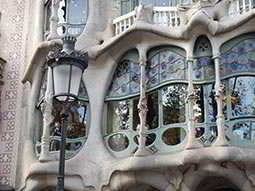 The exterior of Casa Batllo in Barcelona