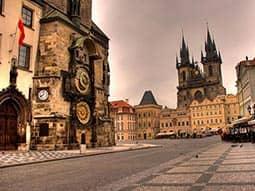A square in Prague