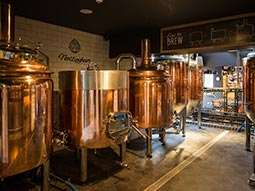 The microbrewery in Brewhouse and Kitchen