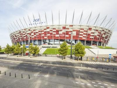 Image of the stadium from standing outside