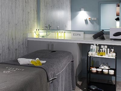 A spa room at the Village Hotel