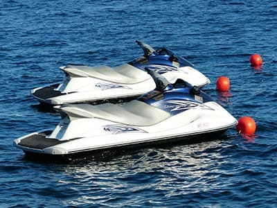 Image of two jet skis in the water