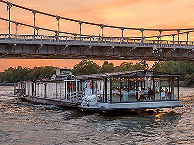 The symphony cruise on the River Thames at sunset