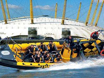 Speedboat RIB on Thames River