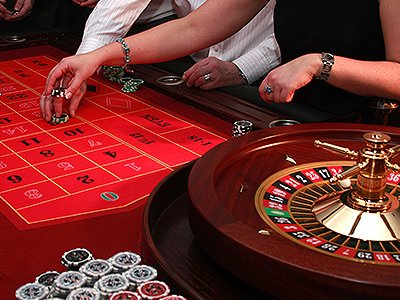 A game of roulette being played