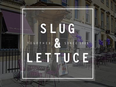 The exterior of the Slug and Lettuce with outdoor seating