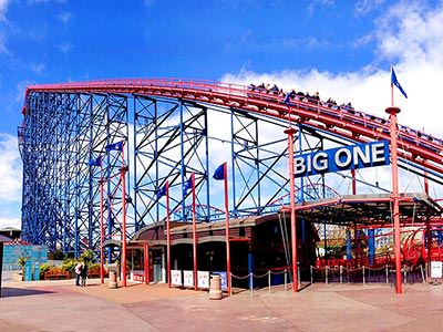 The Big One roller coaster at Blackpool Pleasure Beach