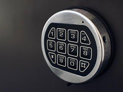 Key code on a door