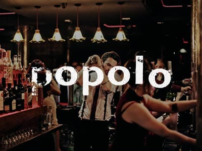 The plush, velvet-inlaid bar at Popolo Newcastle