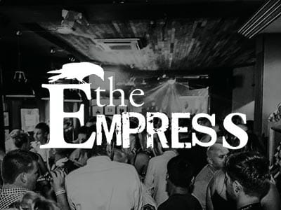 A group of people dancing in The Empress