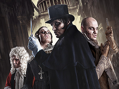 Actors in character at The London Dungeons