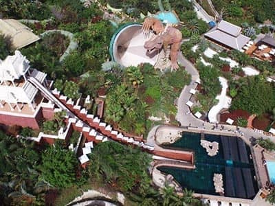 A bird's eye view of Siam Water Park
