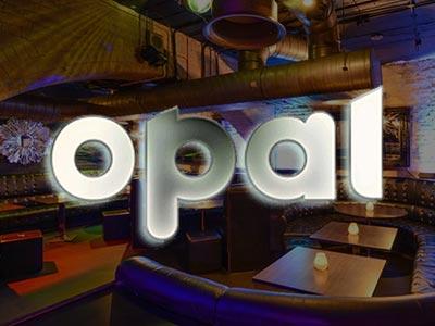 Booths in Opal Bar, London