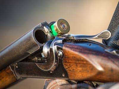A gun being loaded