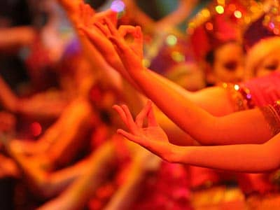 Woman's hands Bollywood dancing