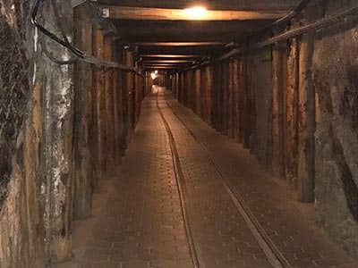 An empty salt mine