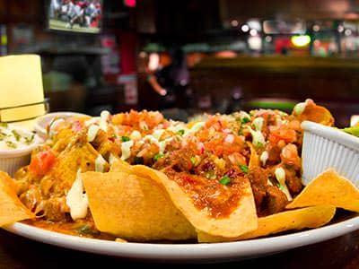 Close up of nachos
