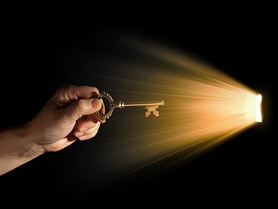 A key heading into a hole