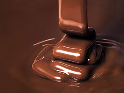 Melted chocolate being poured