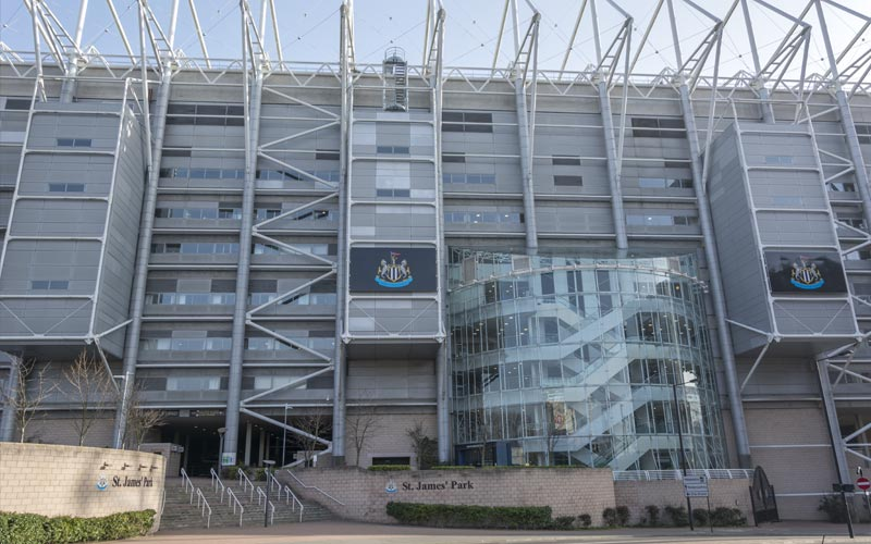 The exterior of St James' Park