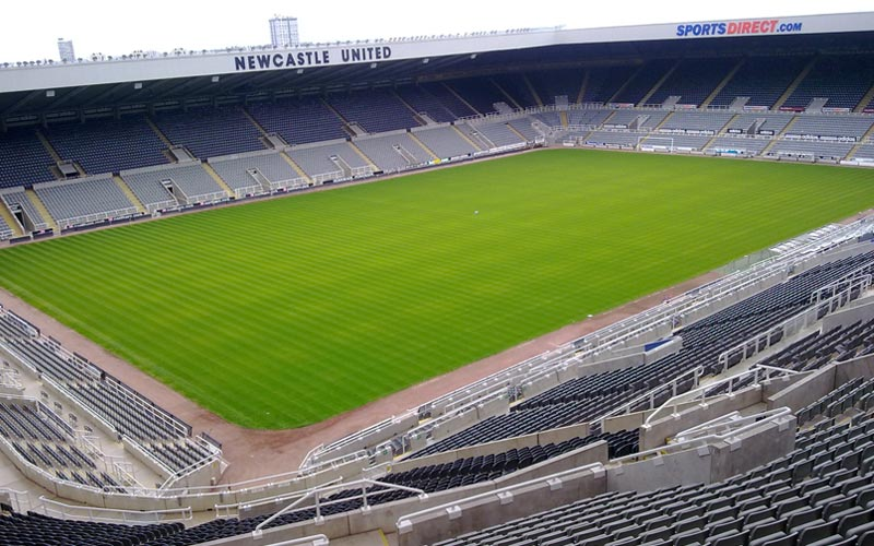 The pitch at St James' Park