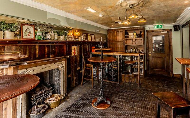 The interior of The Wee Pub