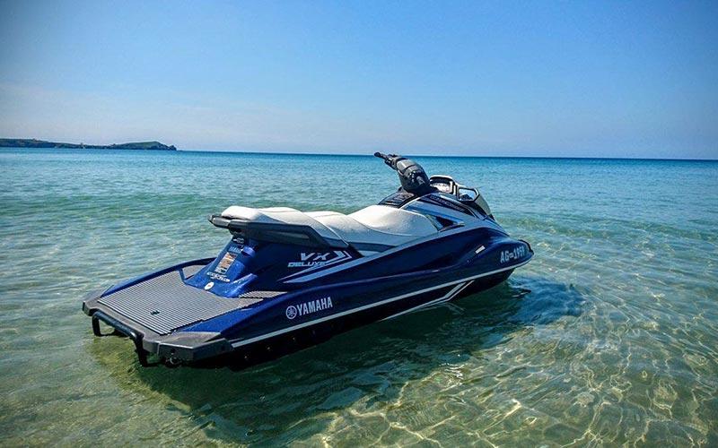 A jet ski in the sea